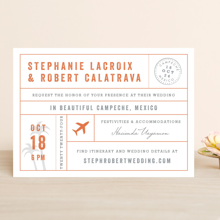 Passport Wedding Invitations By Sarah Curry | Minted
