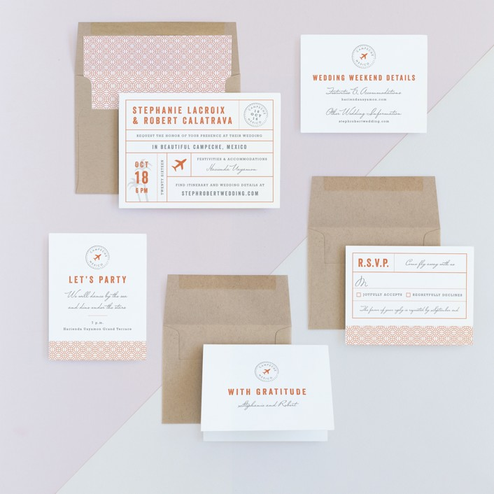 Passport Wedding Invitations by Sarah Curry   Minted