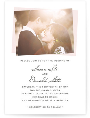 photo of Romantic Frame Wedding Invitations