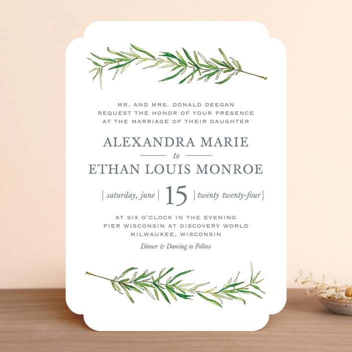 simple sprigs wedding invitations by erin deegan | minted, Wedding invitations
