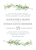 Simple Sprigs Wedding Invitations By Erin Deegan