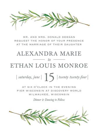 simple sprigs wedding invitations by erin deegan minted