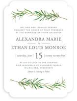 Simple Sprigs Wedding Invitations