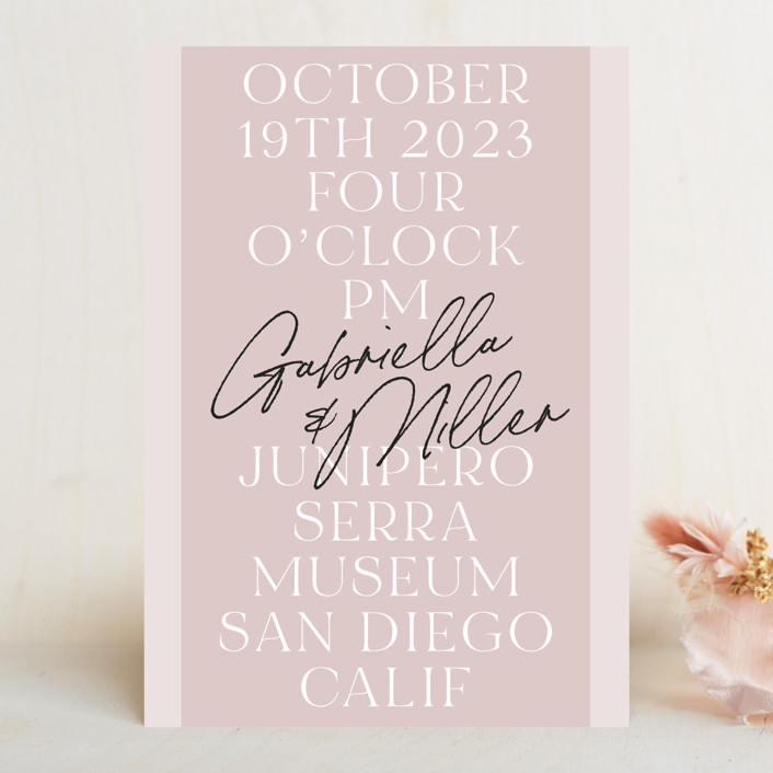 """""""Marry You"""" - Wedding Invitations in Blush by Design Lotus."""