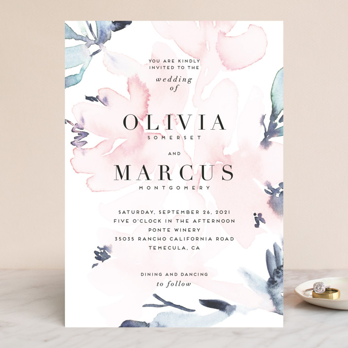 """Florista Modernista"" - Wedding Invitations in Azalea by Petra Kern."