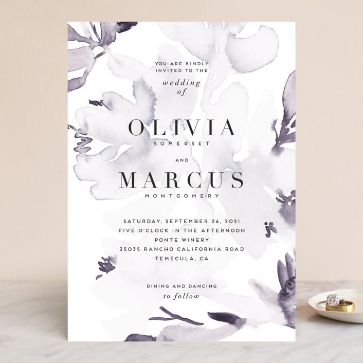 """Florista Modernista"" - Wedding Invitations in Azalea by Petra Kern."