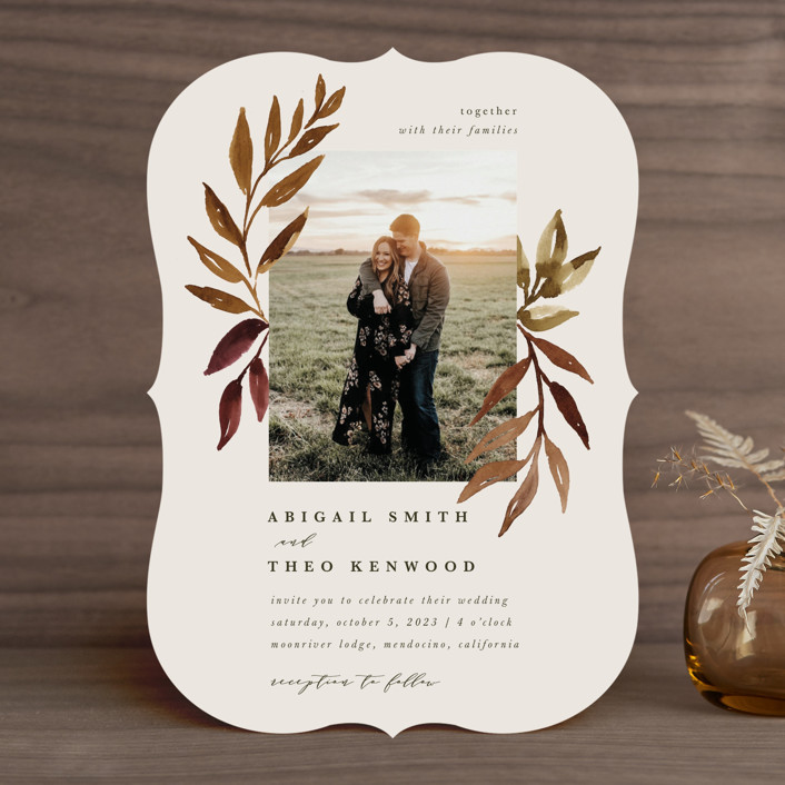 """""""botanical portrait"""" - Wedding Invitations in Leather by Kate Ahn."""