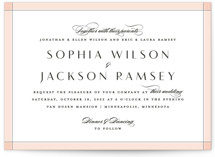 This is a pink wedding invitation by Michelle Taylor called Classical with standard printing on signature in standard.