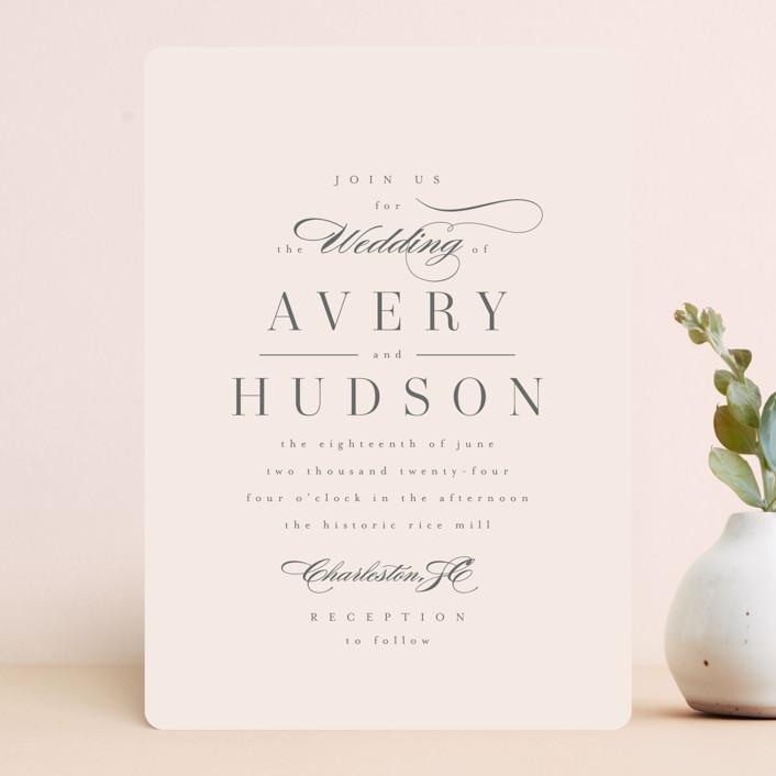 """""""Anson"""" - Wedding Invitations in Latte by Kristie Kern."""
