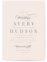 This is a beige wedding invitation by Kristie Kern called Anson with standard printing on signature in standard.