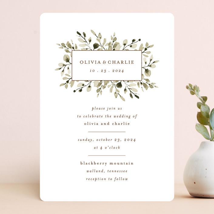 """""""Wedding Fields"""" - Wedding Invitations in Fern by Chris Griffith."""