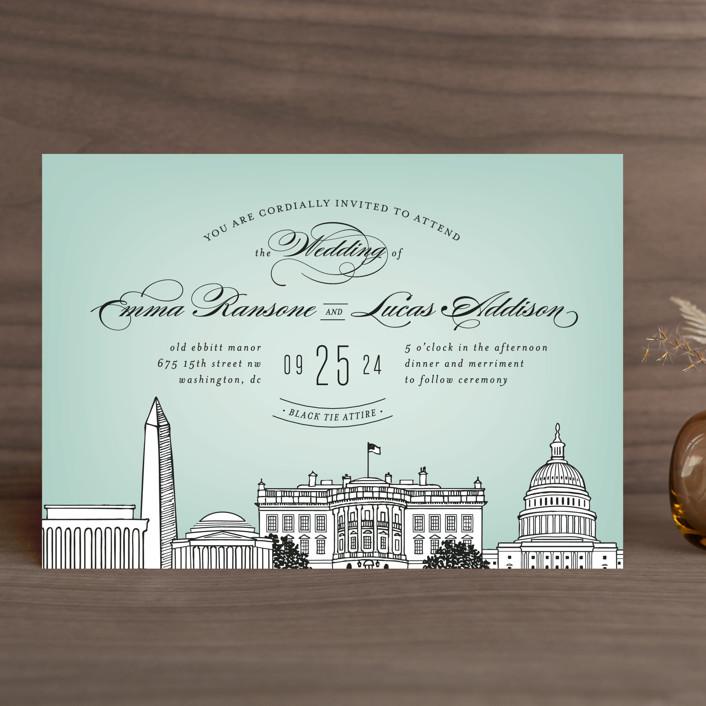 Big City Washington DC Wedding Invitations by Hooray Creative Minted