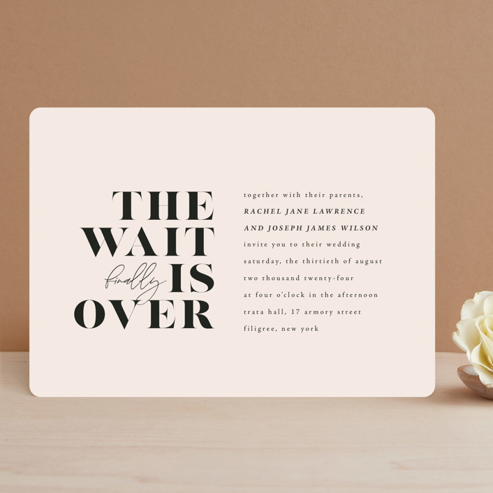 """""""Finally"""" - Funny Wedding Invitations in Ivory by Up Up Creative."""