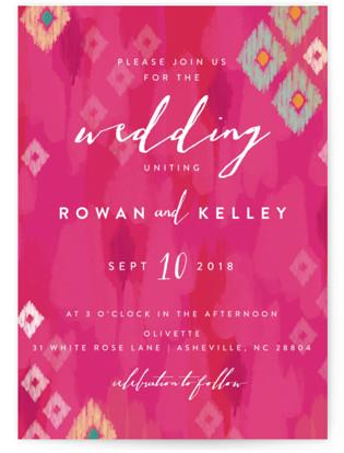 Boho Ikat Wedding Invitations