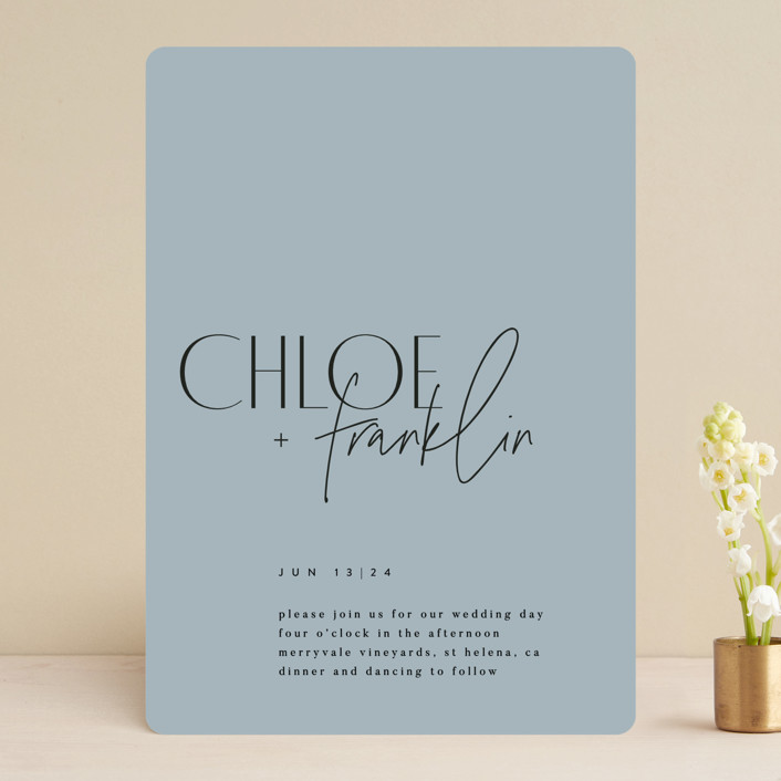 """""""Layered"""" - Wedding Invitations in Cloud by Kelly Schmidt."""