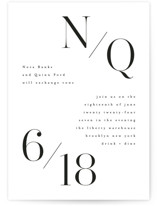 This is a black wedding invitation by Kristie Kern called Bold Modernist with standard printing on signature in standard.