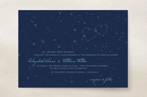 Star Map Wedding Invitations