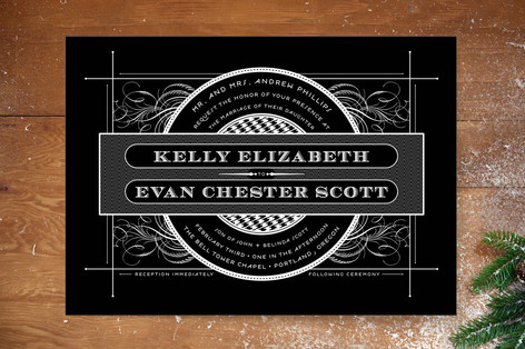 Vintage Ornament Wedding Invitations