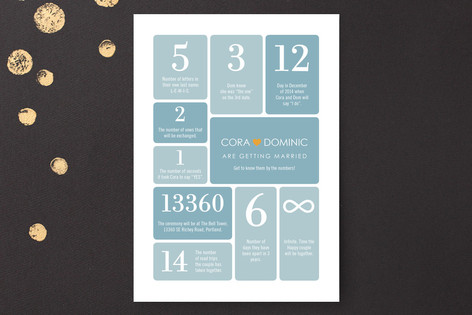 Wedding by Numbers Wedding Invitations