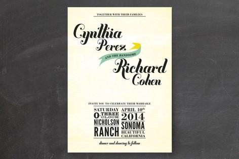 Vintage Ranch Wedding Invitations