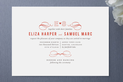 All for Love Wedding Invitations