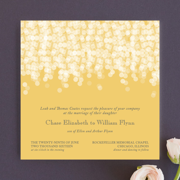 under the stars wedding invitations by bethany anderson minted