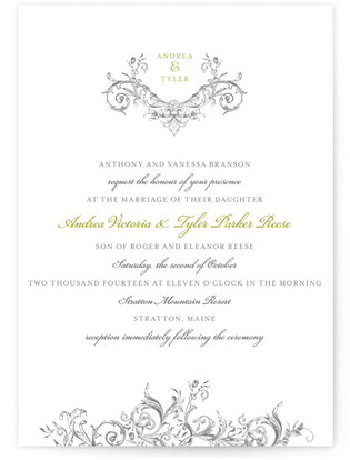 photo of Victorian Vine Monogram Wedding Invitations
