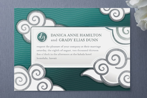 Celestial Billows Wedding Invitations
