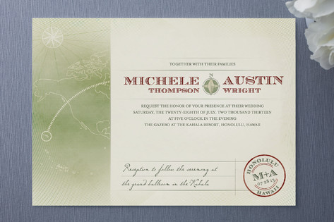 Nautical Destination Wedding Invitations