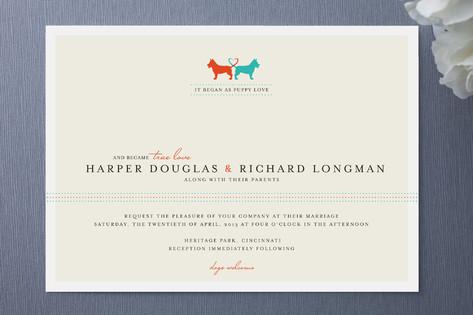 Puppy Love Wedding Invitations