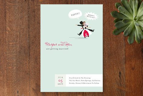 Scooter Wedding Invitations
