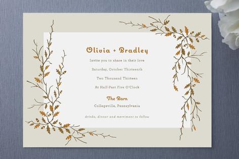 Sweet Autumn Wedding Invitations