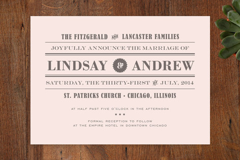 Front Page News Wedding Invitations By Cambria Minted