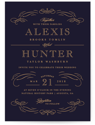 Elegant Flourishes Wedding Invitations