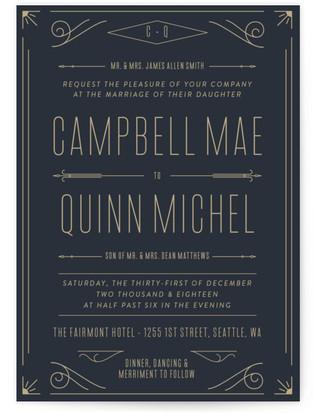Elegantly Modern Wedding Invitations