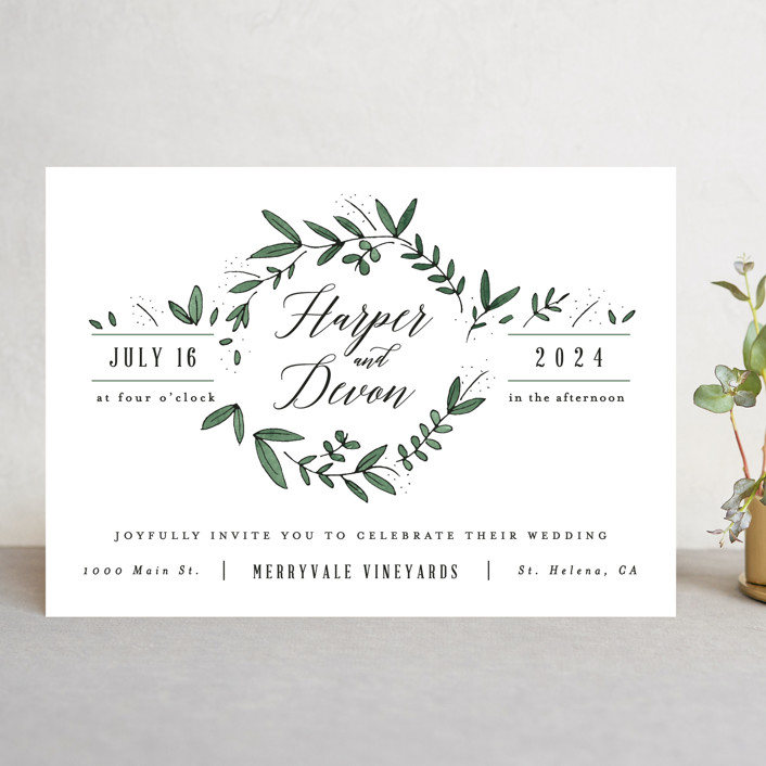 Floral wreath wedding invitations by kelly schmidt minted floral wreath wedding invitations in fresh by kelly schmidt stopboris Choice Image