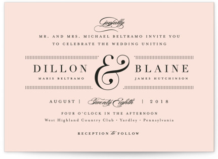 Formal ampersand Wedding Invitations