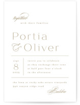 This is a brown wedding invitation by Kristie Kern called Uncorked with standard printing on signature in standard.