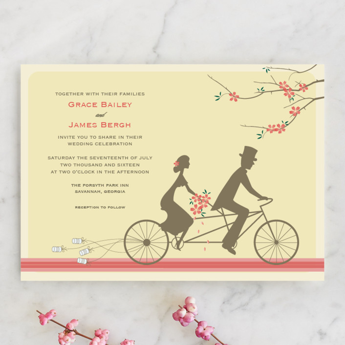 Journey Together Whimsical Funny Wedding Invitations In Ercream By Letter19design