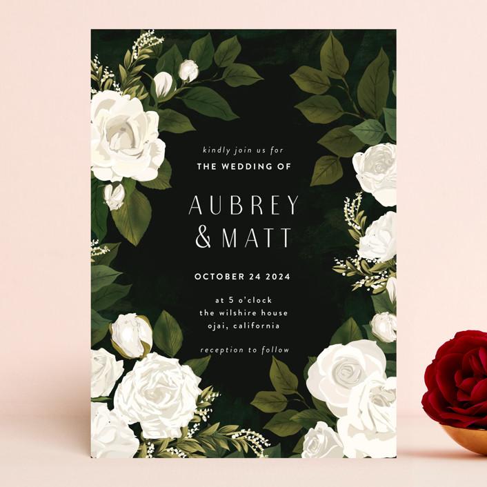 """Rose Garden"" - Wedding Invitations in Porcelain by Susan Moyal."