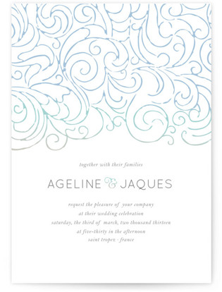 photo of Ocean Flourish Wedding Invitations