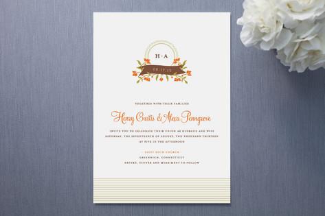 Garden Monogram Wedding Invitations