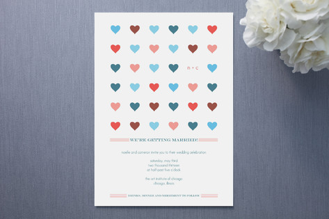 Modern Hearts Wedding Invitations