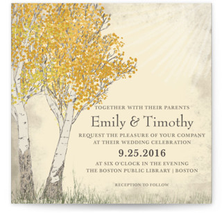 photo of Fall Tranquility Wedding Invitations
