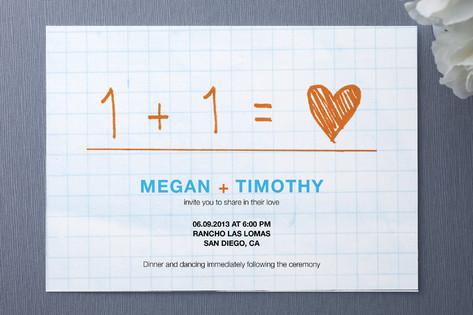 Equation Wedding Invitations