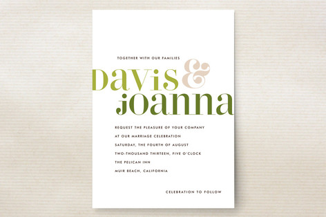 Love Lettered Wedding Invitations