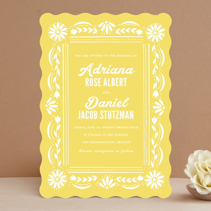 """Pretty Picado"" - Wedding Invitations in Sunshine by Jessie Steury."