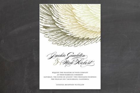 Royal Plumage Wedding Invitations