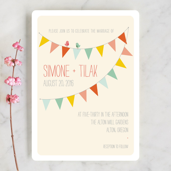 """""""Barn Party!"""" - Rustic, Whimsical & Funny Wedding Invitations in Peach by ZucchiniPress."""