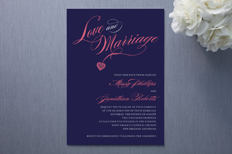 Love and Marriage Wedding Invitations